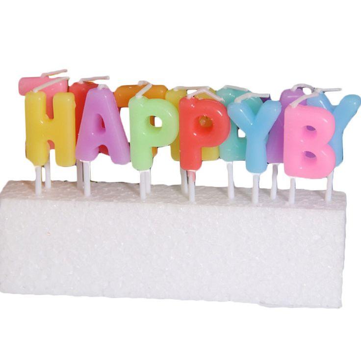 2016 С Днем Рождения Свечи Для Торта Дети Симпатичные День Рождения Свечи Письмо На Английском Языке Романтические Свечи Цвет Для Детей День Рождения
