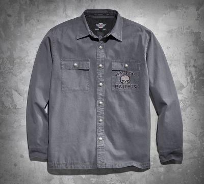 Men S Skull Shirt Jacket Harley Davidson Skulls