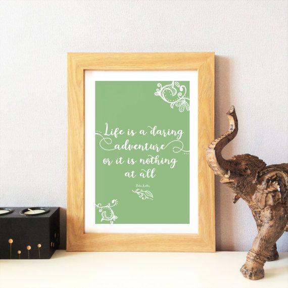 Inspirational Quote Print  Typographic Print by KushiyaDesigns