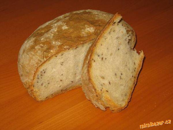 Chleba ala KVASKOVY ve trech krocich * (hl.mouka + celozrnna chlebova 50:50)