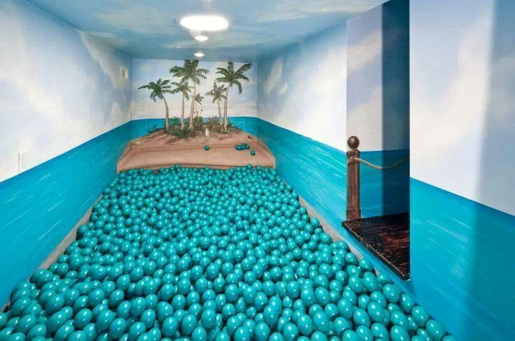 Indoor Ball Pit That Looks Like An Ocean Diy Pinterest