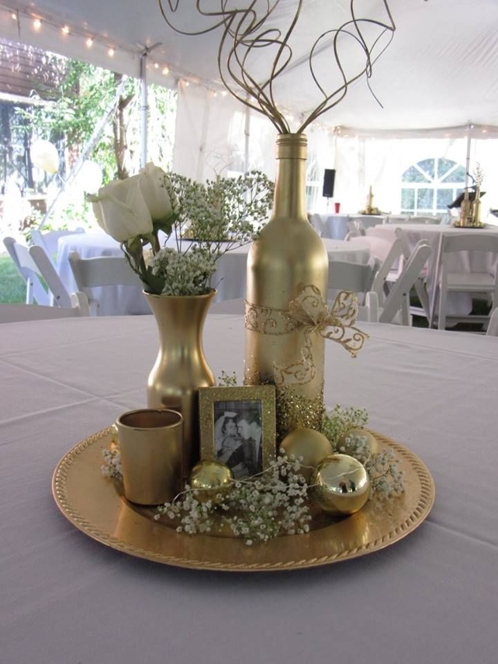 50th Anniversary Party Centerpiece By Tara Anniversary Party Centerpieces 50th Wedding Anniversary Decorations 50th Anniversary Centerpieces
