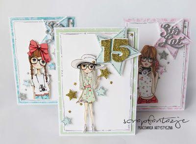 scrapfantazje, kartki urodzinowe, birthday cards