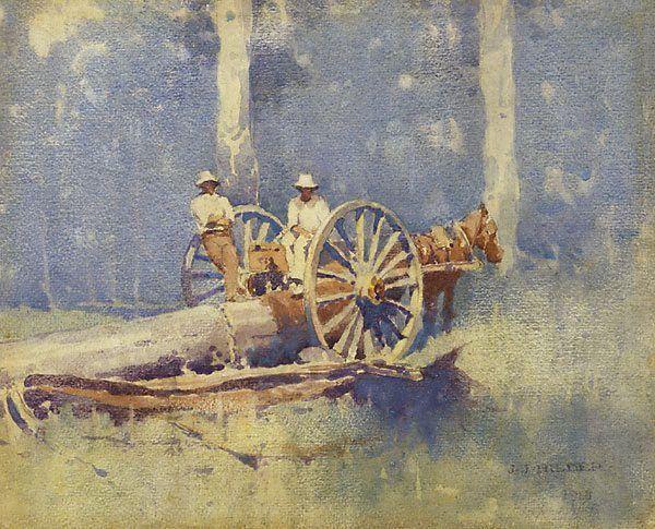 artist j j hilder - timber getters