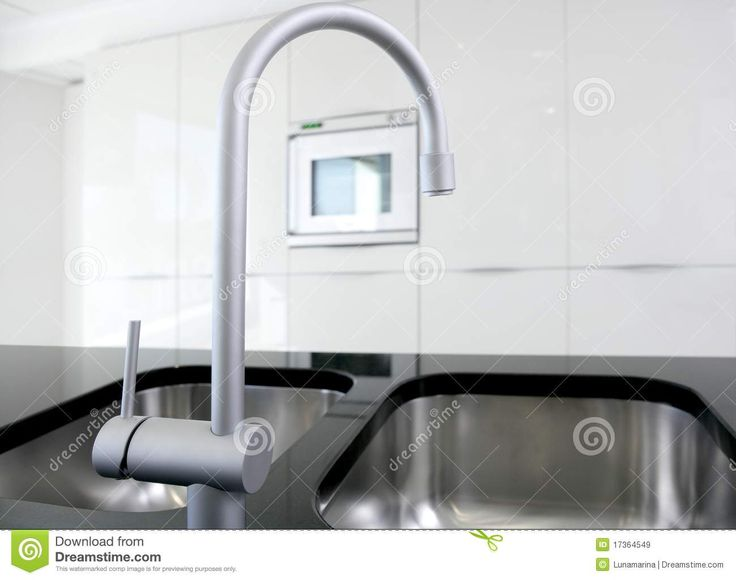 faucet and oven modern black and white royalty free stock modern kitchen faucets - Modern Kitchen Faucets