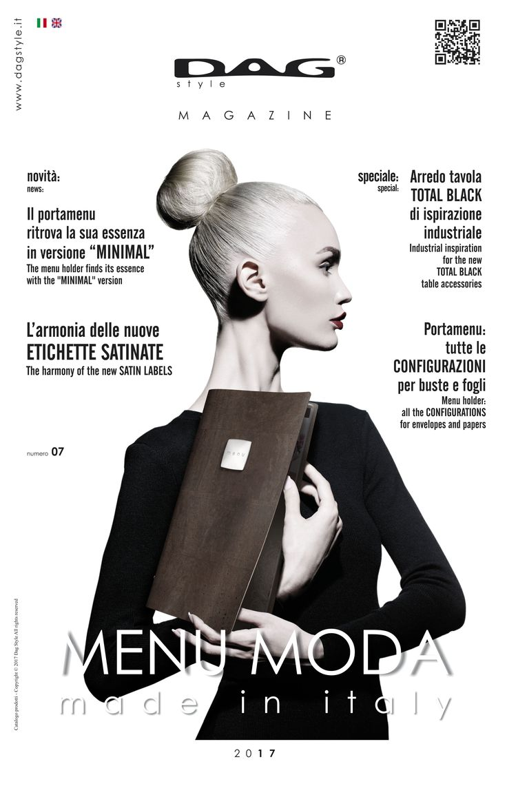 The #DAGStyle Magazine 2017 is coming! Discover the new fashion collection of #menuholder and #tableaccessories
