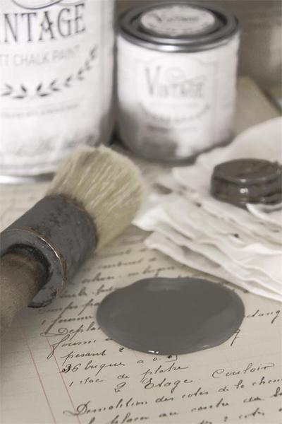 Jeanne d`Arc Living Chalk Paint French grey 100 ml von Shabbythek auf DaWanda.com