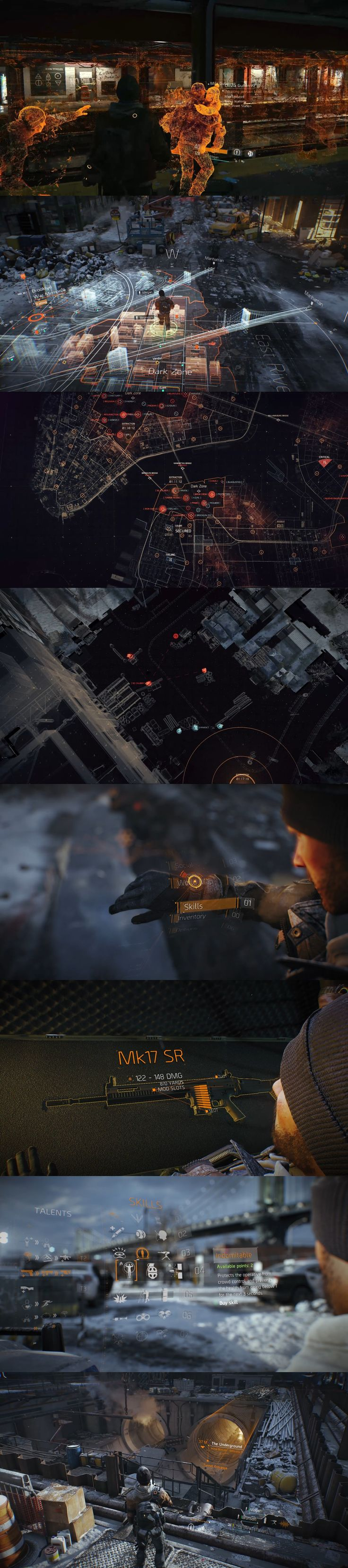 Tom Clancy's The Division -Interfaces