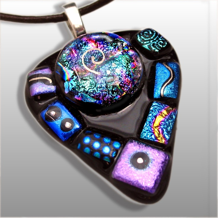 428 best fused glass dichroic images on pinterest glass art dichroic fused glass pendant in shimmering jewel tones by hsokol mozeypictures Choice Image