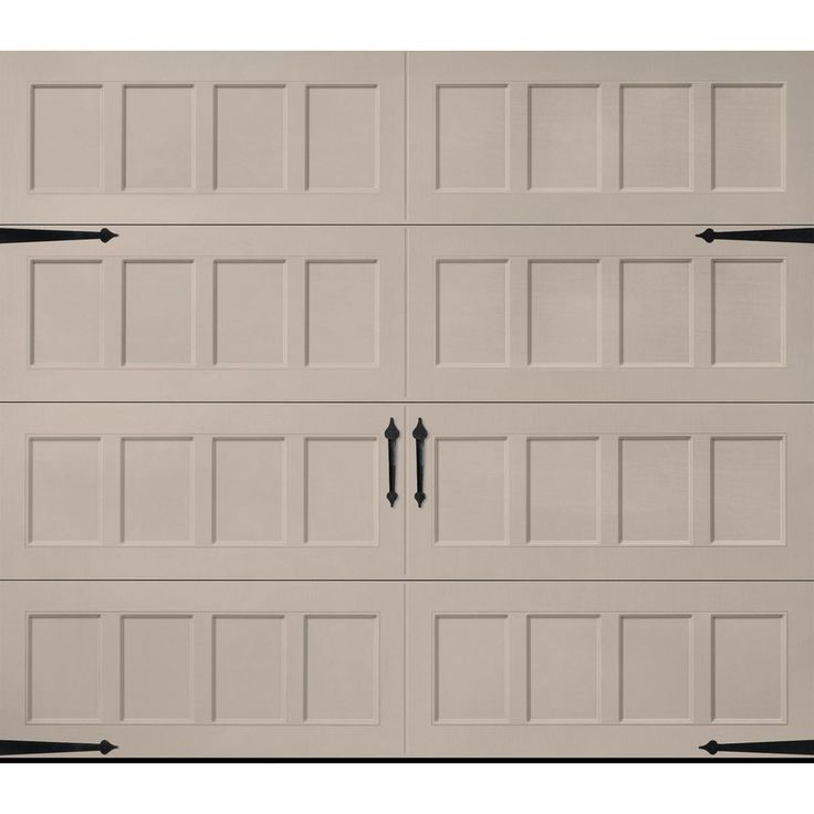 Pella Carriage House Series 108-in x 84-in Insulated Sandtone Single Garage Door