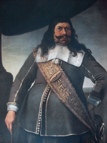 Enno Doedes Star (Osterhusen Wirdum 1631-1707) played an important role in a number of famous battles. In the Second Anglo-Dutch War ( Anglo-Dutch War ), he fought as captain of the VOC ship the Golden Lion (60 guns) and in 1667 he took part in the famous trip to Chatham , led by Michiel de Ruyter, which the flagship of the English fleet, the HMS Royal Charles , was stolen and the remaining fleet virtually destroyed. The dulcimer is still seen daily in the Rijksmuseum.