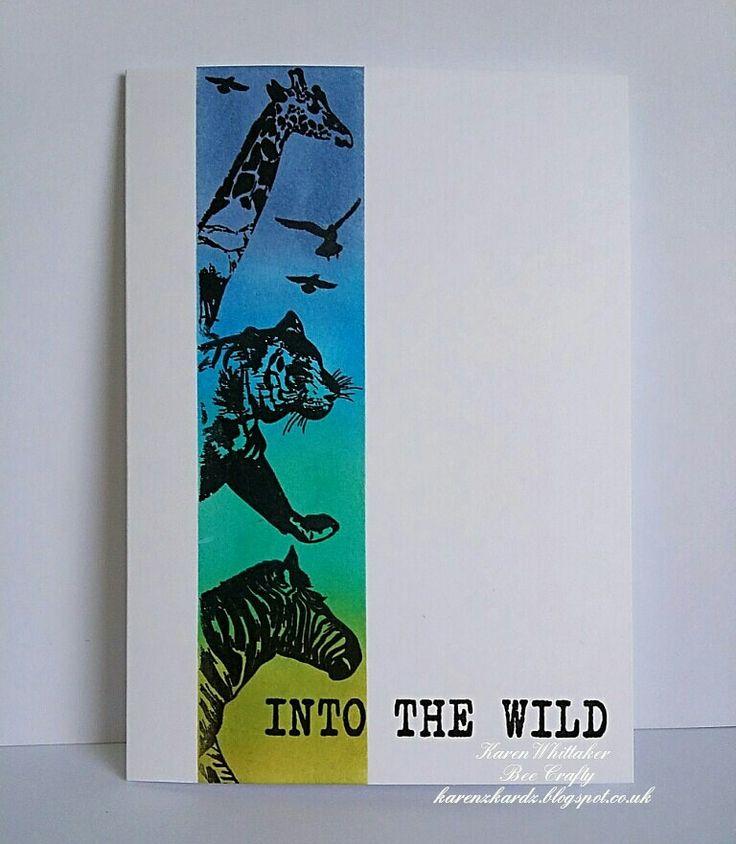 Scenery Animals stamp collection by Bee Crafty  #beecraftystamps #dtsample #sceneryanimals #tiger #zebra #giraffe #travelwords #distressoxides #stamps #creative #craft #ilovetocraft