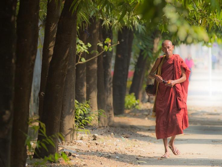 Gary Latham Photography - Street Monk - Yangon, Burma