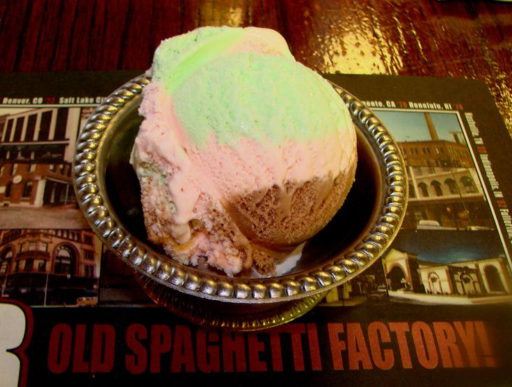 The Old Spaghetti Factory Spumoni Ice Cream.