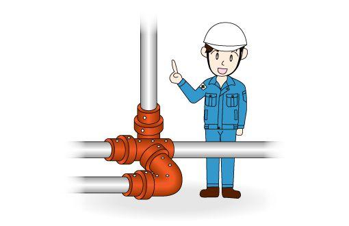 Maintenance イラスト:配管ラインの樹脂が固まってしまうのを防ぎたい