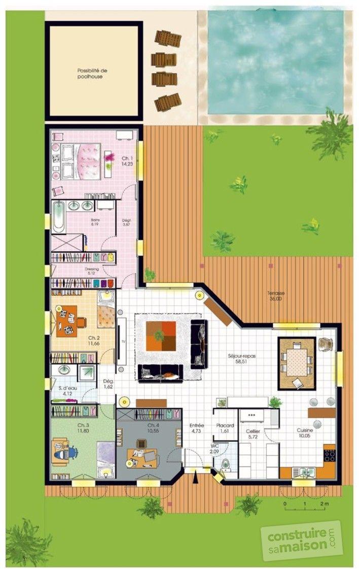 Les 25 meilleures id es de la cat gorie plans de maison for Plan maison en l