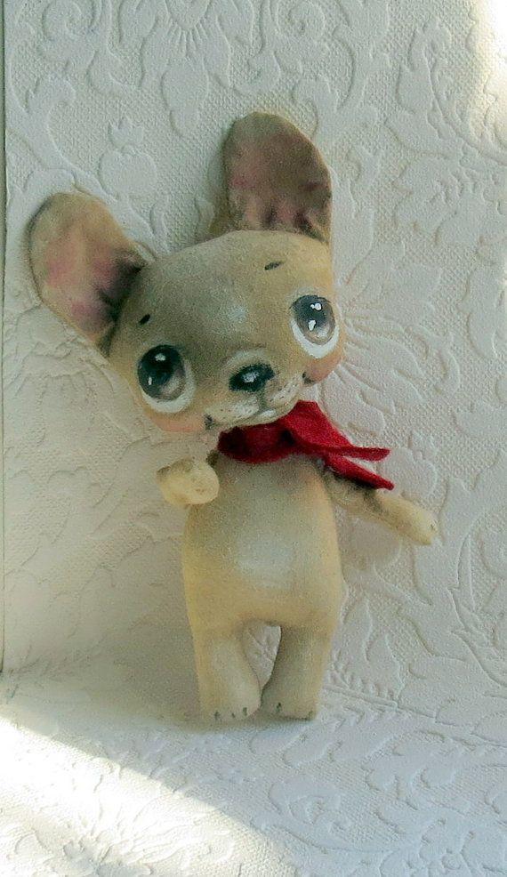French Bulldog cloth doll by suziehayward on Etsy, $64.00