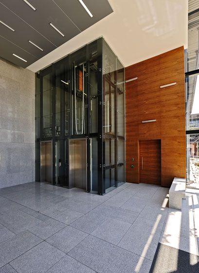 Black River Park, Cape Town lifts. See more at http://peerutin.co.za/architect-projects/black-river-park-north/
