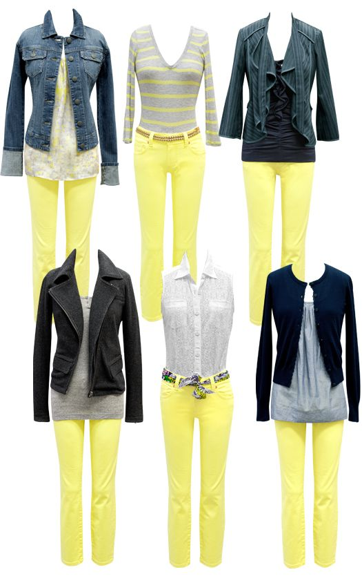 can't believe I'm considering lemon yellow capri's for spring...but I'm digging the bold of them with navy/denim!