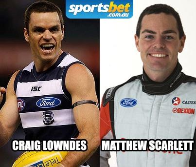 Look Alikes - Craig Lowndes and Matthew Scarlett - Sportsbet.com.au
