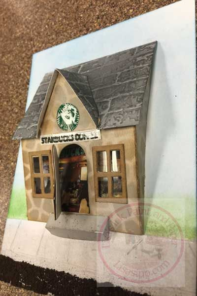 Everyone has seen Tim's new house dies. Here is a version of the house I created for a December class at Cafe Crop located in Merrillville, Indiana.  For the siding, I used the Notebook Textu…