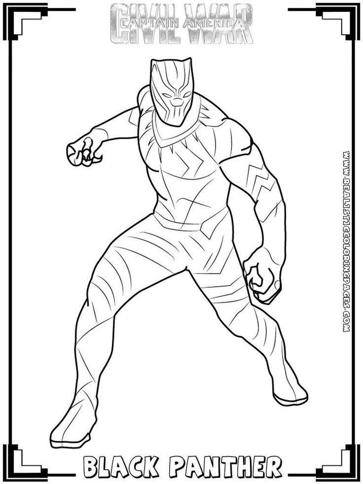 Black Panther Coloring Page Many Interesting Cliparts