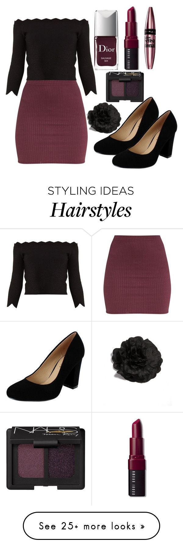 """""""Outfit #1817"""" by ivanna1920 on Polyvore featuring Alexander McQueen, Classified, Christian Dior, Bobbi Brown Cosmetics, Maybelline and NARS Cosmetics"""