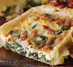 Bacon, Spinach and Cheese Tart | Food Ireland Irish Recipes