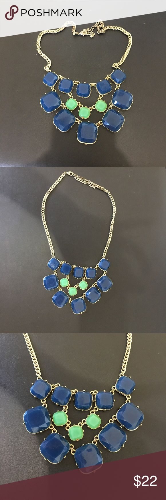 Like! Blue & teal necklace with gold chain Like! Blue & teal necklace with gold chain. From Francesca's boutique store. Perfect to dress up any outfit!  Francesca's Collections Jewelry Necklaces #goldchain #goldchainmen #goldchainwomen #goldchaincanada #canada