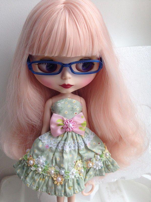 Blythe Nude Doll Factory Neo Blythe Custom Doll Matt Face Long Curly Pink Hair #Blythe #Dolls
