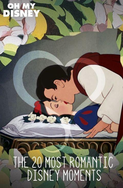 ディズニーカップル 白雪姫の印象的なシーンのイラスト♡