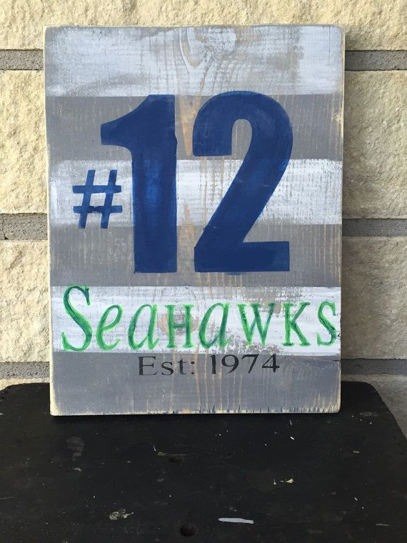 12th man seattle seahawks seahawks decor man by ModernSparklebtq