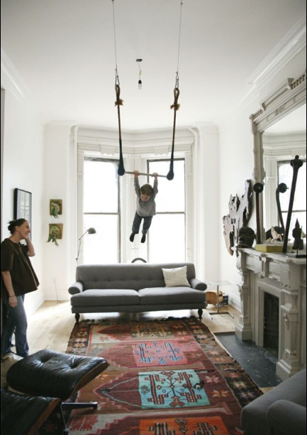 What a great way to experience a room and soar above a gorgeous area rug!