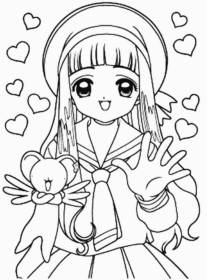 cardcaptors 6 cartoons coloring pages coloring book - Cardcaptor Sakura Coloring Pages