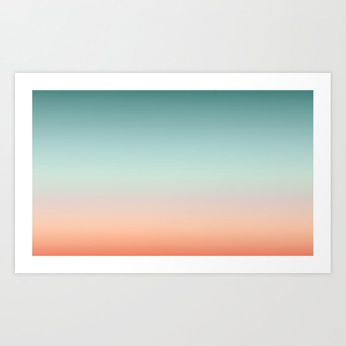 Buy Color Gradient Background Fading Sunset Sky Colors Art Print