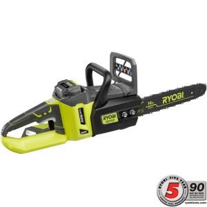 Ryobi 14 in. 40-Volt Lithium-Ion Brushless Cordless Chainsaw RY40511 at The Home Depot - Mobile