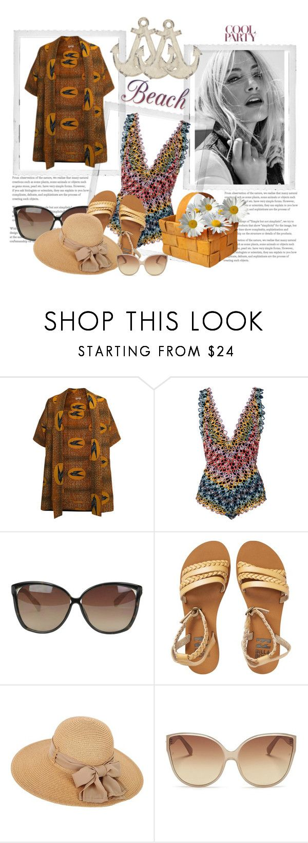 """""""Beach Day"""" by sarahbear231 on Polyvore featuring Missoni Mare, Linda Farrow, Billabong and Polaroid"""