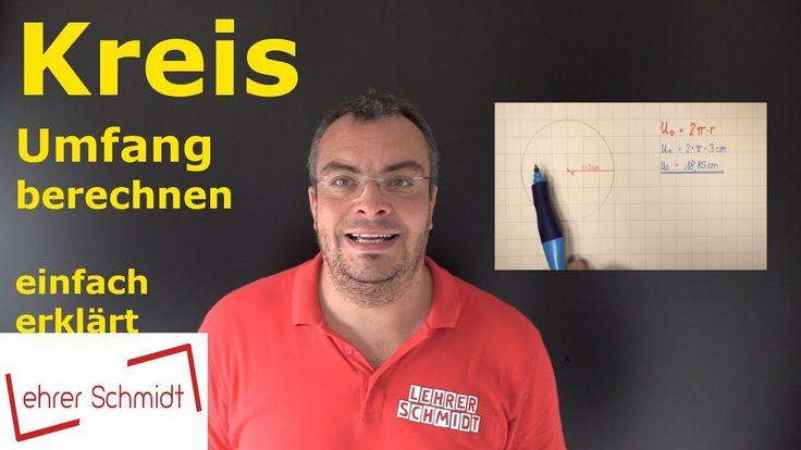 Kreis - Umfang berechnen, Mathematik, einfach erklärt, Flächen