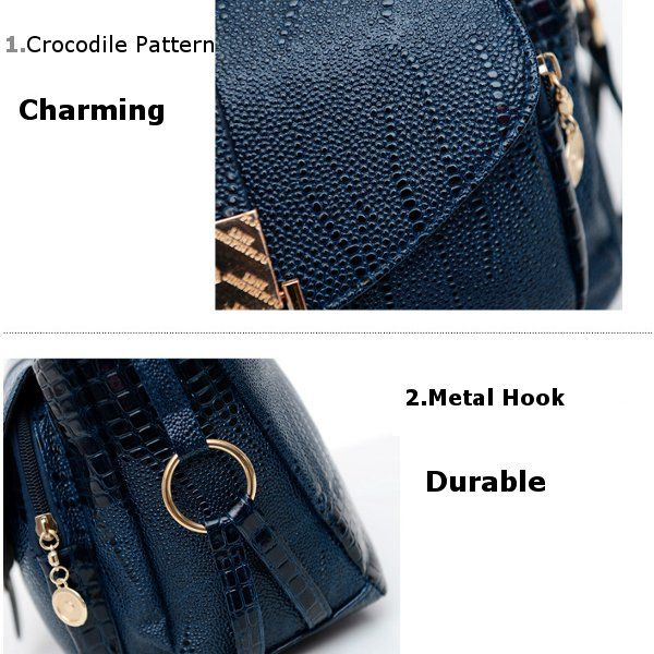 Women Crocodile Bags Ladies Elegant Leather Shoulder Bags Crossbody Bags Messenger Bags
