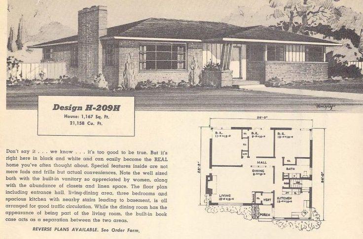 Vintage Ranch House Plans 50s Vintage House Plans 1950s