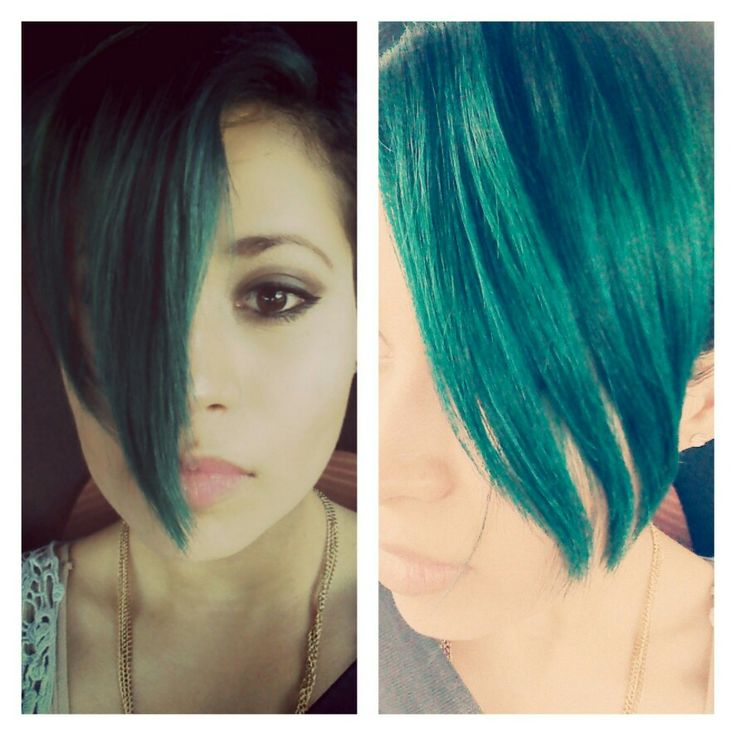 Mix vodoo blue&bad boy blue 3 weeks later. Pixie hair