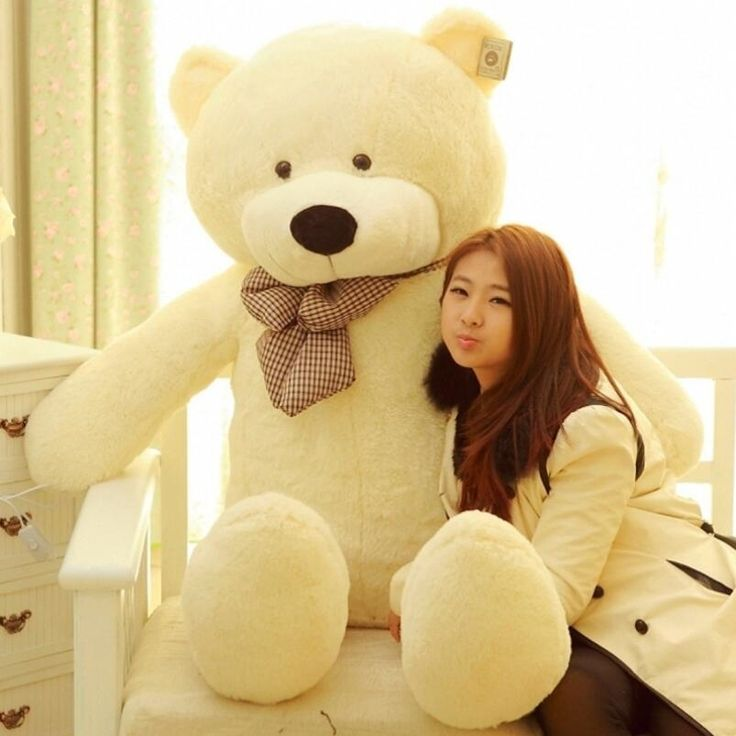 33.75$  Watch now - http://alietd.shopchina.info/go.php?t=32399192485 - Giant Big Size White Brown And Dark Brown Pink Teedy Bear Plush Toy Stuffed Animal Valentine's Day Gifts   #magazineonline