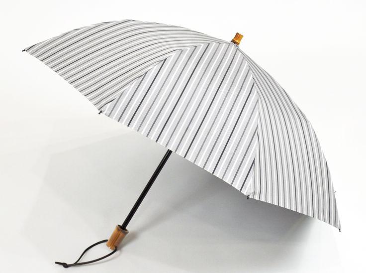 2段折 グレーストライプ 完全遮光日傘、日光紫外線アレルギー対策専門店【サンバリア100】