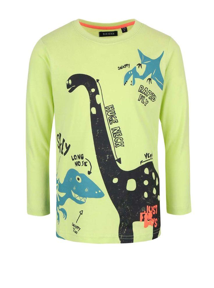 Bluză verde Blue Seven din bumbac cu imprimeu pentru băieți #magazindefashion