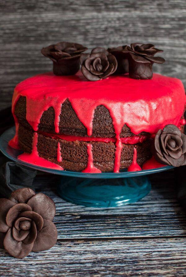Bloody Good Double Chocolate Halloween Cake - An Italian in my Kitchen
