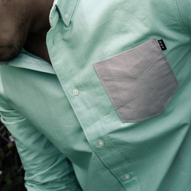 Oxford Woven Contrast Pocket Shirt by HUF