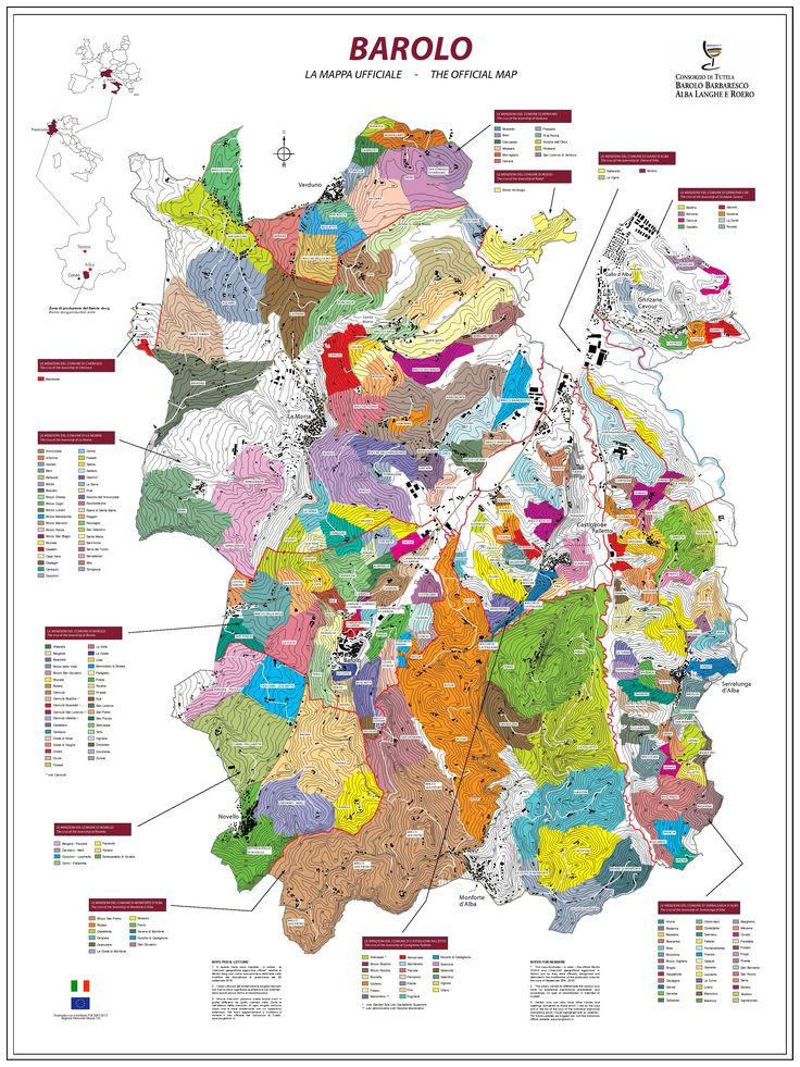 The Official Map of Barolo