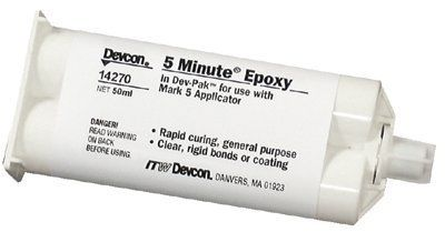 Devcon 5 Minute Amber Two-Part Epoxy Adhesive - Amber, Base & Accelerator (B/A) - 50 Ml Cartridge - Shore Hardness 85 Shore D, Shear Strength 1900 Psi [Price Is Per Cartridge], 2015 Amazon Top Rated Adhesive Accelerators #BISS