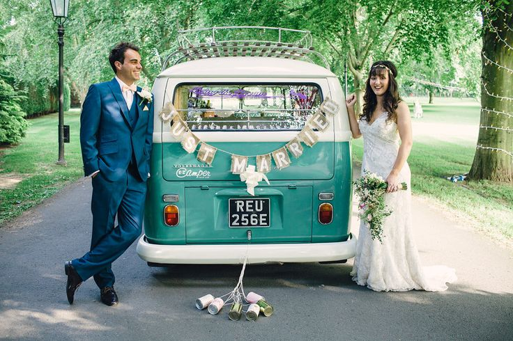 Vintage VW Campervans are perfect for retro #weddings. VW 'Do' Weddings | Image Saz Chapmam