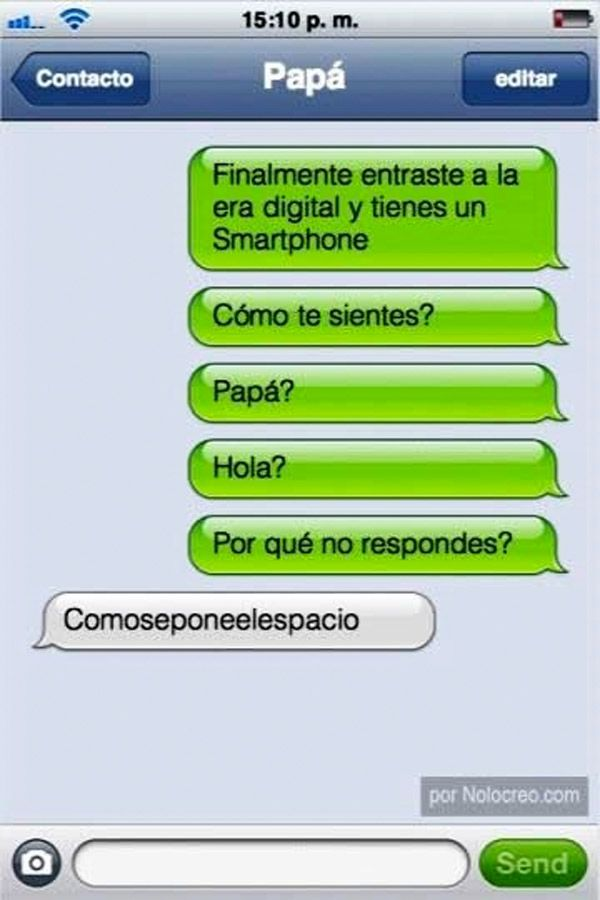Papá tiene smartphone. #humor #risa #graciosas #chistosas #divertidas